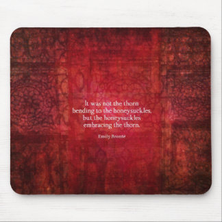 Emily Bronte inspirational quote Mousepad