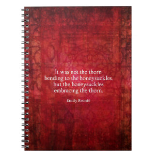 Emily Bronte inspirational quote Spiral Notebook