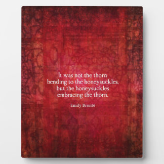 Emily Bronte inspirational quote Display Plaques