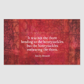 Emily Bronte inspirational quote Rectangular Sticker