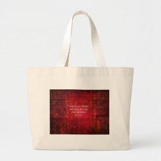 Emily Bronte nature and books quote Tote Bags