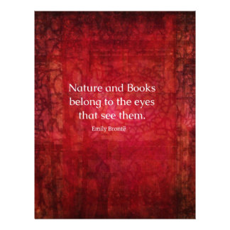 Emily Bronte nature and books quote Letterhead Template