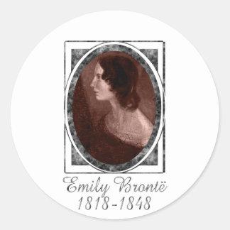 Emily Brontë Pegatinas Redondas