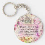 Emily Bronte quote about freedom Basic Round Button Keychain