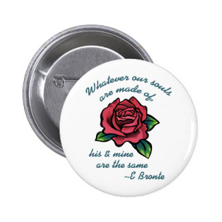 EMILY BRONTE QUOTE PINBACK BUTTONS