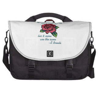EMILY BRONTE QUOTE LAPTOP BAGS