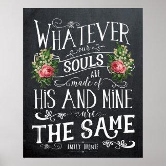 Emily Bronte quote print