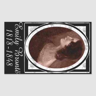 Emily Brontë Rectangular Sticker