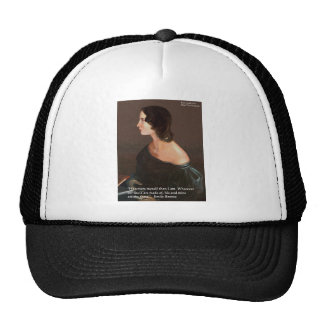 "Emily Bronte ""Souls Same"" Love Quote Gifts & Cards Trucker Hats"