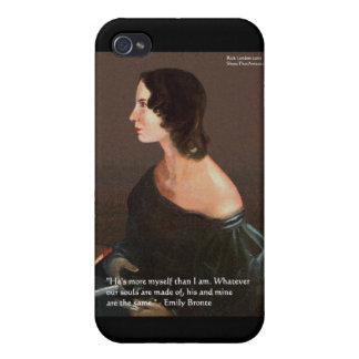 "Emily Bronte ""Souls Same"" Love Quote Gifts & Cards Covers For iPhone 4"
