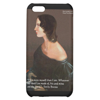 "Emily Bronte ""Souls Same"" Love Quote Gifts & Cards iPhone 5C Cases"