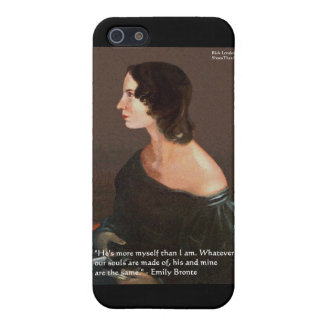 """Emily Bronte """"Souls Same"""" Love Quote Gifts & Cards iPhone SE/5/5s Cover"""