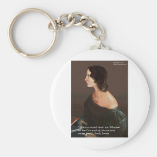 "Emily Bronte ""Souls Same"" Love Quote Gifts & Cards Keychain"