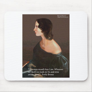 """Emily Bronte """"Souls Same"""" Love Quote Gifts & Cards Mouse Pad"""