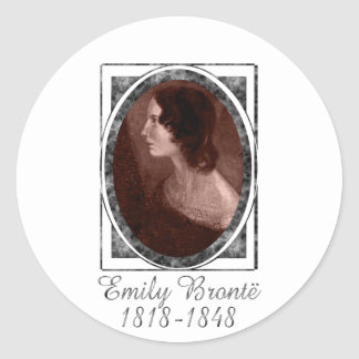 Emily Brontë Classic Round Sticker