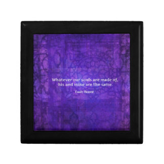 Emily Bronte whimsical romance quote Gift Box