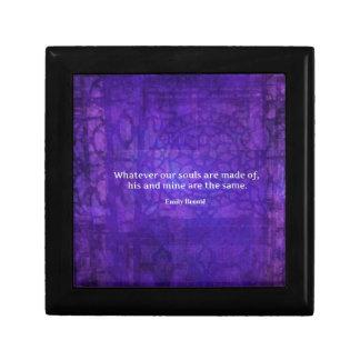 Emily Bronte whimsical romance quote Keepsake Boxes