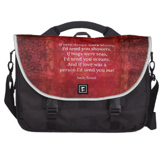 Emily Bronte whimsical romance quote Laptop Messenger Bag