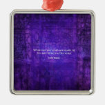 Emily Bronte whimsical romance quote Christmas Ornament
