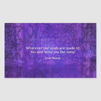 Emily Bronte whimsical romance quote Rectangular Sticker