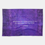 Emily Bronte whimsical romance quote Towels