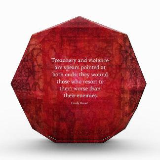 Emily Bronte WISDOM quote Award