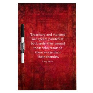 Emily Bronte WISDOM quote Dry Erase Whiteboards