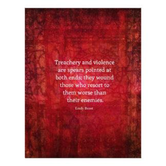 Emily Bronte WISDOM quote Customized Letterhead