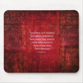 Emily Bronte WISDOM quote Mouse Pad