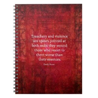 Emily Bronte WISDOM quote Note Book