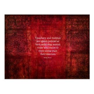 Emily Bronte WISDOM quote Postcard