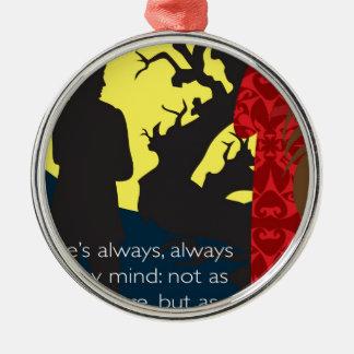 Emily Bronte/Wuthering diseño del regalo de la Adorno Navideño Redondo De Metal