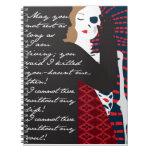 Emily Bronte/Wuthering diseño del regalo de la alt Cuadernos