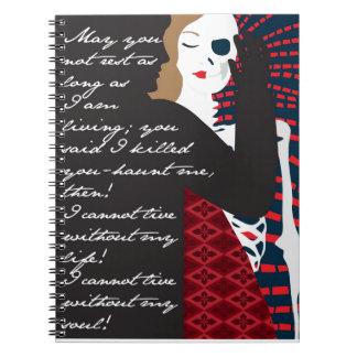 Emily Bronte/Wuthering diseño del regalo de la alt Spiral Notebooks