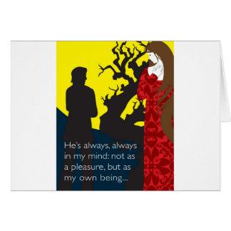 Emily Bronte/Wuthering diseño del regalo de la alt Felicitaciones