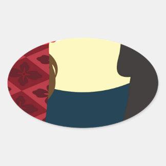 Emily Bronte/Wuthering diseño del regalo de la Pegatina Ovalada