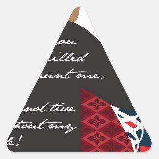 Emily Bronte/Wuthering diseño del regalo de la Pegatina Triangular