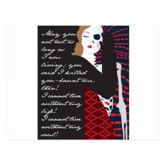 Emily Bronte/Wuthering diseño del regalo de la Postal