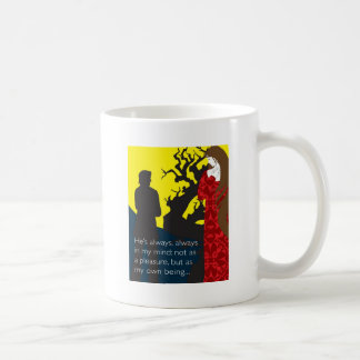 Emily Bronte/Wuthering diseño del regalo de la Taza Clásica