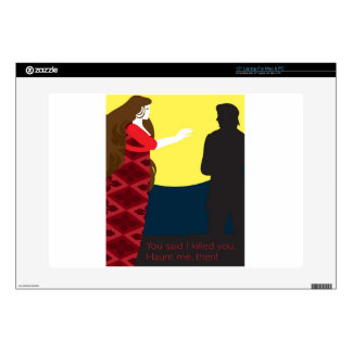 """Emily Bronte / Wuthering Height gift design 15"""" Laptop Skins"""