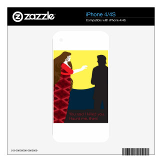 Emily Bronte / Wuthering Height gift design Skin For The iPhone 4S