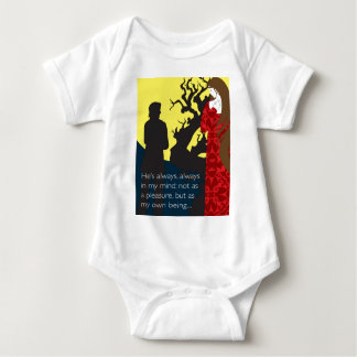Emily Bronte / Wuthering Height gift design with q Baby Bodysuit