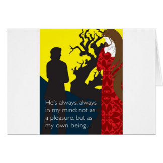 Emily Bronte / Wuthering Height gift design with q Card