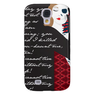 Emily Bronte / Wuthering Height gift design with q Samsung Galaxy S4 Covers