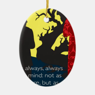 Emily Bronte / Wuthering Height gift design with q Ceramic Ornament
