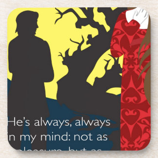 Emily Bronte / Wuthering Height gift design with q Drink Coasters