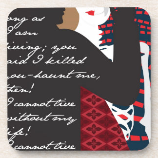 Emily Bronte / Wuthering Height gift design with q Beverage Coaster