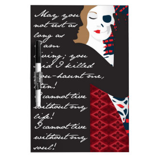 Emily Bronte / Wuthering Height gift design with q Dry Erase Whiteboards
