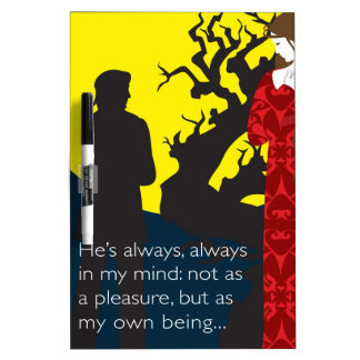Emily Bronte / Wuthering Height gift design with q Dry-Erase Whiteboards