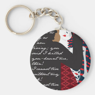 Emily Bronte / Wuthering Height gift design with q Key Chains
